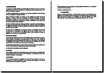 L'article 1984 du Code civil : le contrat de mandat