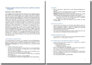 Inventions et progrès techniques du bas Moyen Âge : l'imprimerie, métallurgie et machinisme