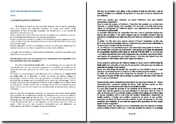 Etude de cas en droit des régimes matrimoniaux : Conjugalité et gestion du patrimoine