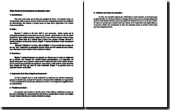 Fiche d'arrêt de la Première Chambre civile de la Cour de cassation du 10 décembre 1985 : la détermination des enfants à charge vivant au foyer dans l'application d'un contrat d'assurance décès