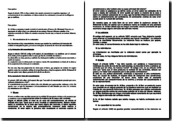 Caso practica sobre el contrato en derecho español