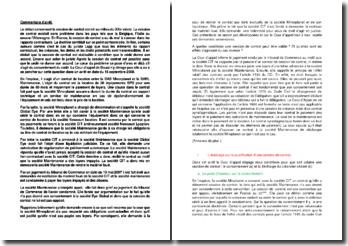 Commentaire d'arrêt de la Cour d'appel du 16 septembre 2008 : la cession de contrat