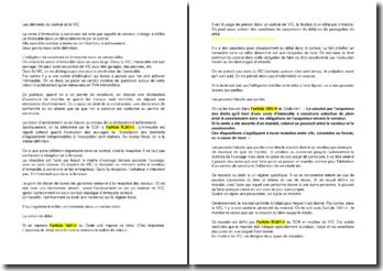 Les éléments du contrat de la VIC (la vente d'immeubles à construire)