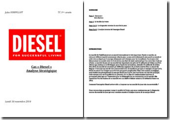 Comment l'entreprise Diesel arrive-t-elle à s'imposer sur un marché du jean très concurrentielle ?