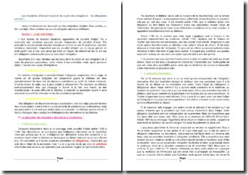 Les modalités affectant l'objet et les sujets des obligations : les obligations plurales