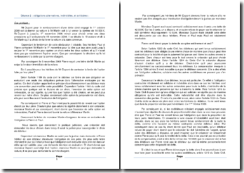 Etude de cas sur les obligations alternatives, indivisibles, et solidaires