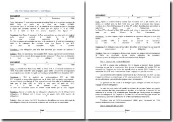 Corrigés de différents cas de droit civil