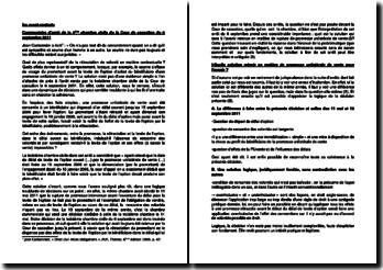 Commentaire d'arrêt de la Troisième Chambre civile du la Cour de cassation du 6 septembre 2011 : les avant-contrats