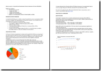 Le marché des fournisseurs d'accès à internet en France 2014 (FAI)