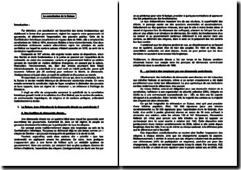 La constitution de la Suisse