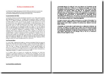 De Vichy à la Constitution de 1946