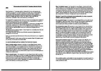 Commentaire de l'arrêt de la 1ère chambre civile du 3 février 2010 relatif à la récompense entre époux