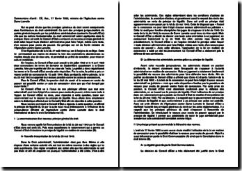 Commentaire d'arrêt de l'Assemblée du Conseil d'Etat du 17 février 1950 : le recours en excès de pouvoir contre un acte de concession