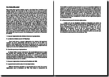 Commentaire d'arrêt du Conseil d'État le 7 février 1936 : le pouvoir réglementaire des ministres