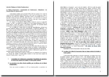 Commentaire de l'ordonnance « Dieudonné » du Conseil d'Etat du 9 janvier 2014