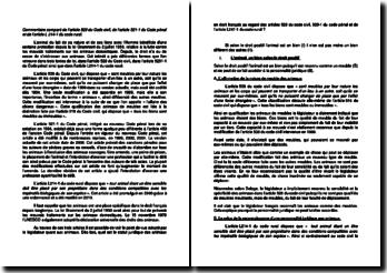 Commentaire comparé de l'article 528 du Code civil, de l'article 521-1 du Code pénal et de l'article L 214-1 du Code rural