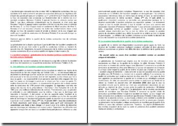 Commentaire d'arrêt de la Deuxième Chambre civile de la Cour de cassation du 1er juillet 2010 : la qualité de la victime au cours de l'accident