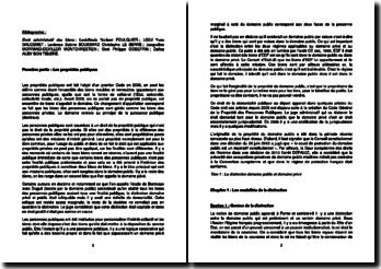 Droit administratif des biens : les propriétés publiques, les travaux publics et l'expropriation