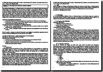 La vie dans les cités de l'Orient romain, d'après Le monde romain 70 av. J.-C. - 73 ap. J.-C. de C. Wolff, M-O Charles-Laforge, M-C Ferriès, A. Groslambert et E. Guerber