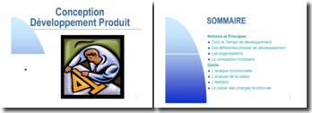 Conception et développement d'un produit