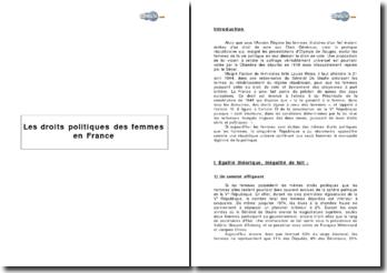 Les droits politiques des femmes en France
