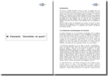 M. Foucault, 'Surveiller et punir'.