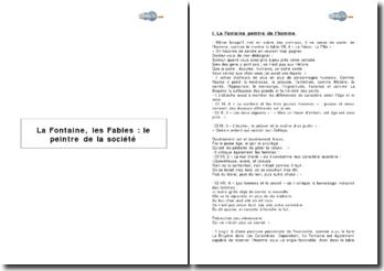 La Fontaine, les Fables : le peintre de la société