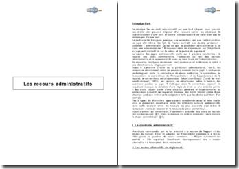 Les recours administratifs (2001)