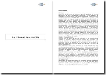 Dossier sur le tribunal des conflits