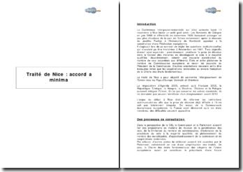Traité de Nice : accord a minima