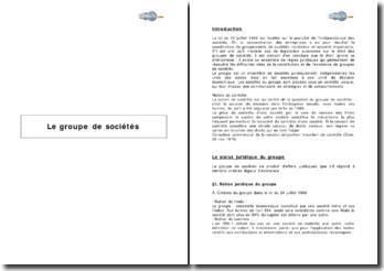 Le groupe de sociétés