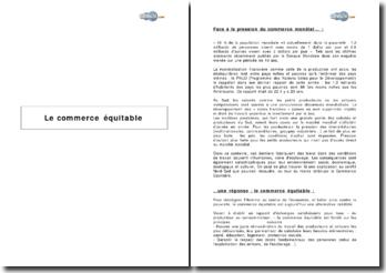 Le commerce équitable, du consommateur au consom'acteur (2001), les engagements et critères de progrès