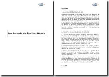Les Accords de Bretton-Woods