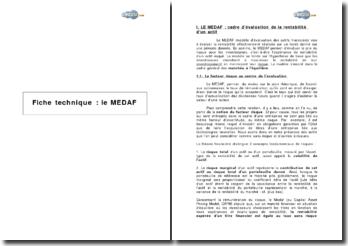 Le MEDAF (Modèle d'Evaluation des Actifs Financiers)