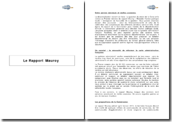Le Rapport Mauroy