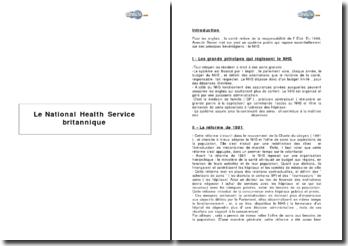 Le National Health Service britannique