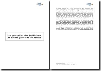 L'organisation des juridictions de l'ordre judiciaire en France