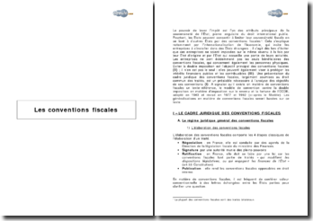 Les conventions fiscales