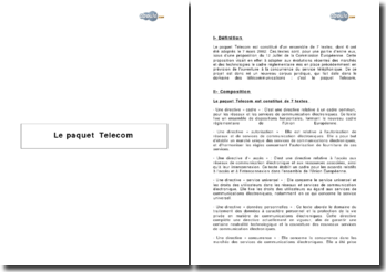Le paquet Telecom