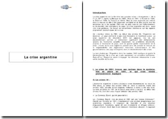 La crise argentine