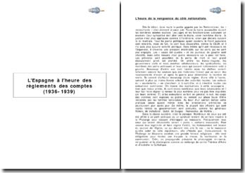 L'Espagne à l'heure des règlements des comptes (1936-1939)