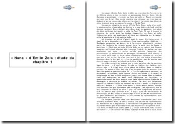 Nana d'Emile Zola: étude du chapitre 1