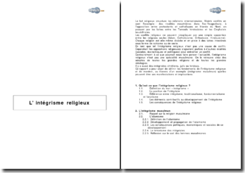 L'intégrisme religieux