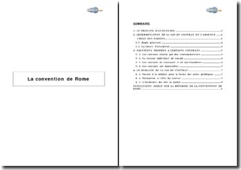 La Convention de Rome