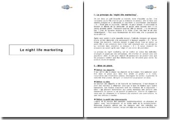 Le night life marketing