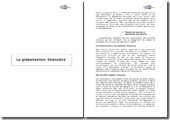 La globalisation financière (2003)