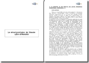 Le structuralisme de Claude Lévi-Strauss