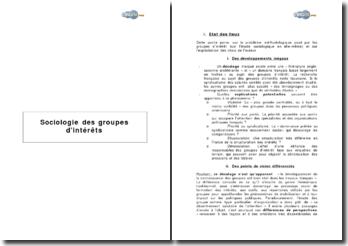 Sociologie des groupes d'intérêts de M. Offerle