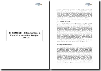 Introduction à l'histoire de notre temps - tome 2 de René Remond