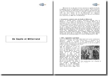 De Gaulle et Mitterrand
